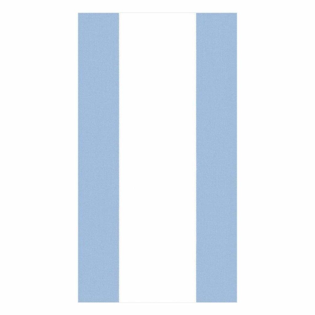 Caspari Bandol Stripe Light Blue Guest Towels