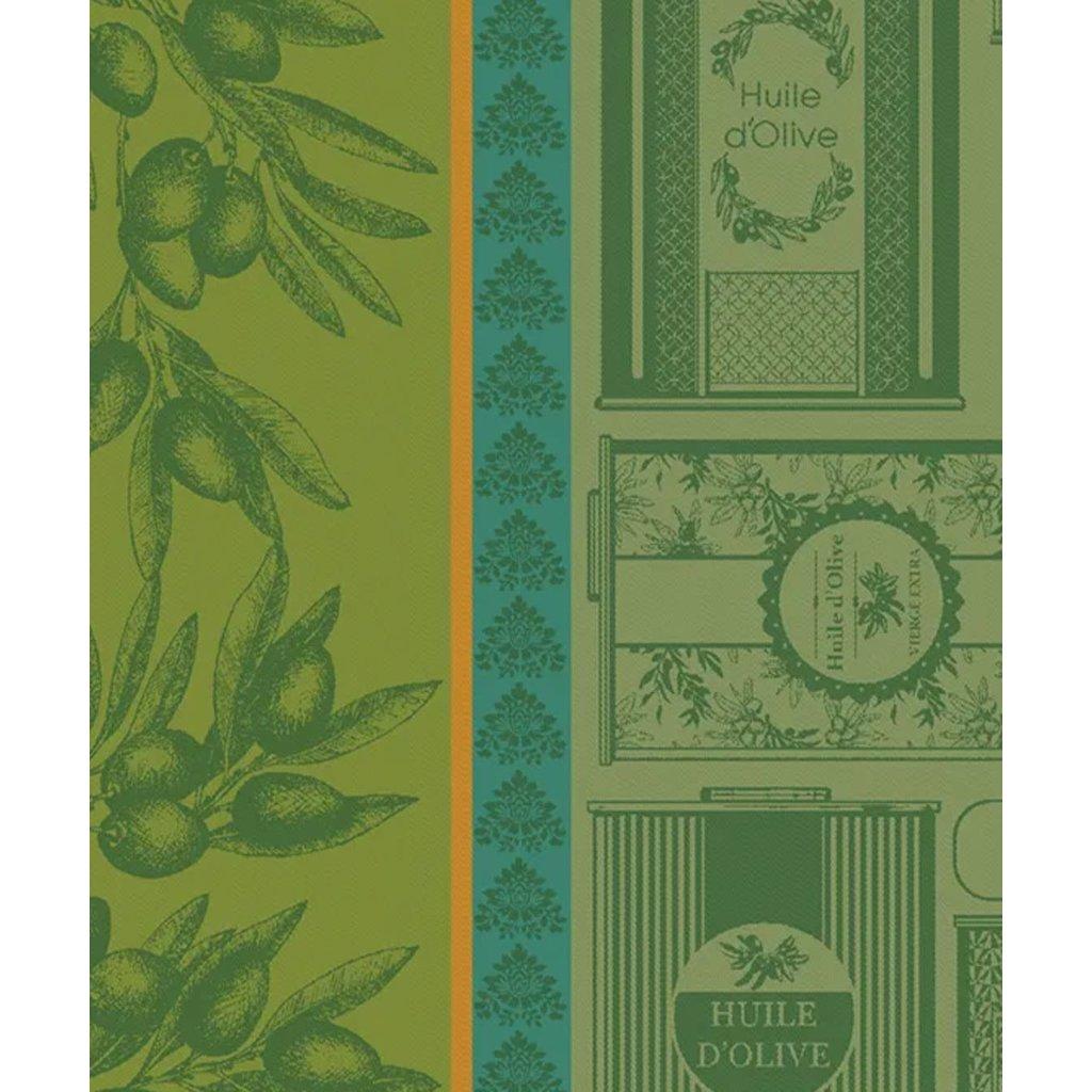 """Garnier Thiebaut Huile d'Olives Vert Kitchen Towel 22""""x30"""", 100% Cotton"""
