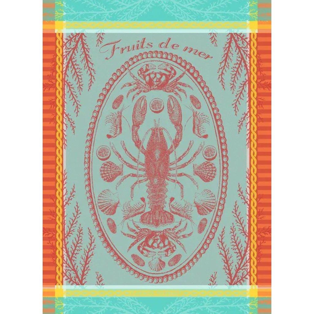 """Garnier Thiebaut Maree Basse Lagon Kitchen Towel 22""""x30"""", 100% Cotton"""