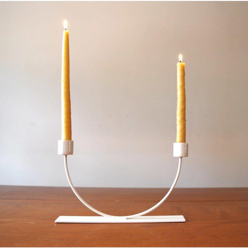Faire U Candlestick- Cream