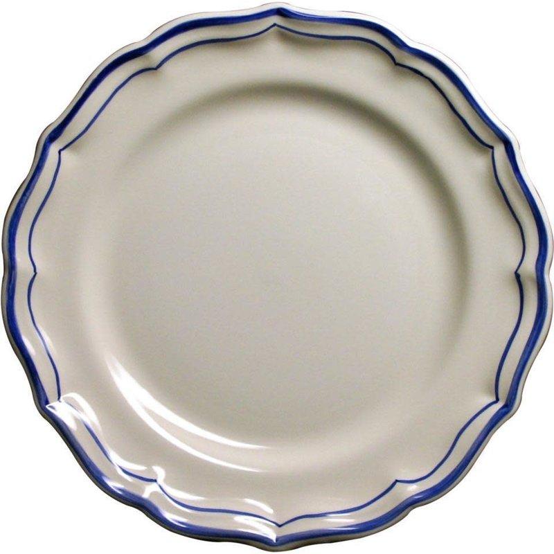 Gien Dessert Plate Filet Bleu Monogram (B)