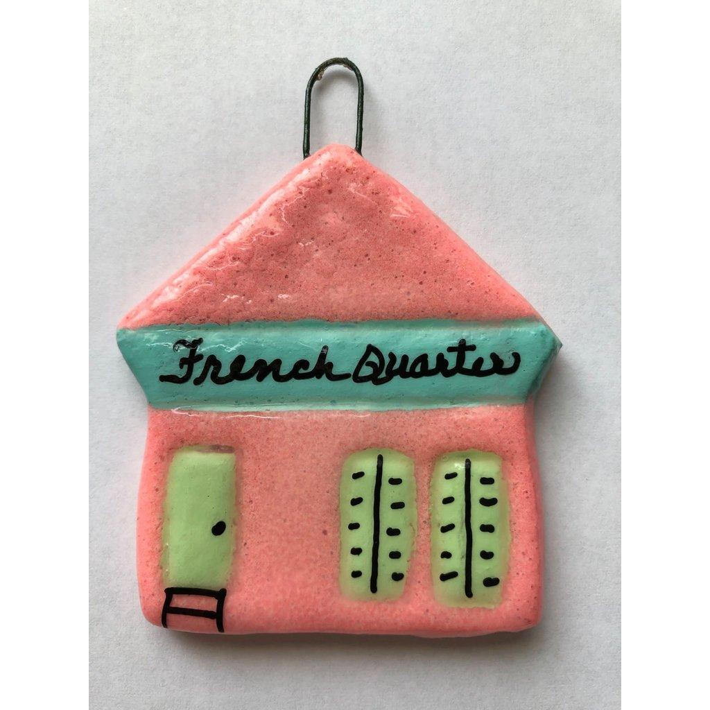 Crescent City Ornament Shotgun Ornament Pink