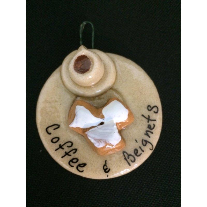 Crescent City Ornament Coffee & Beignet Ornament