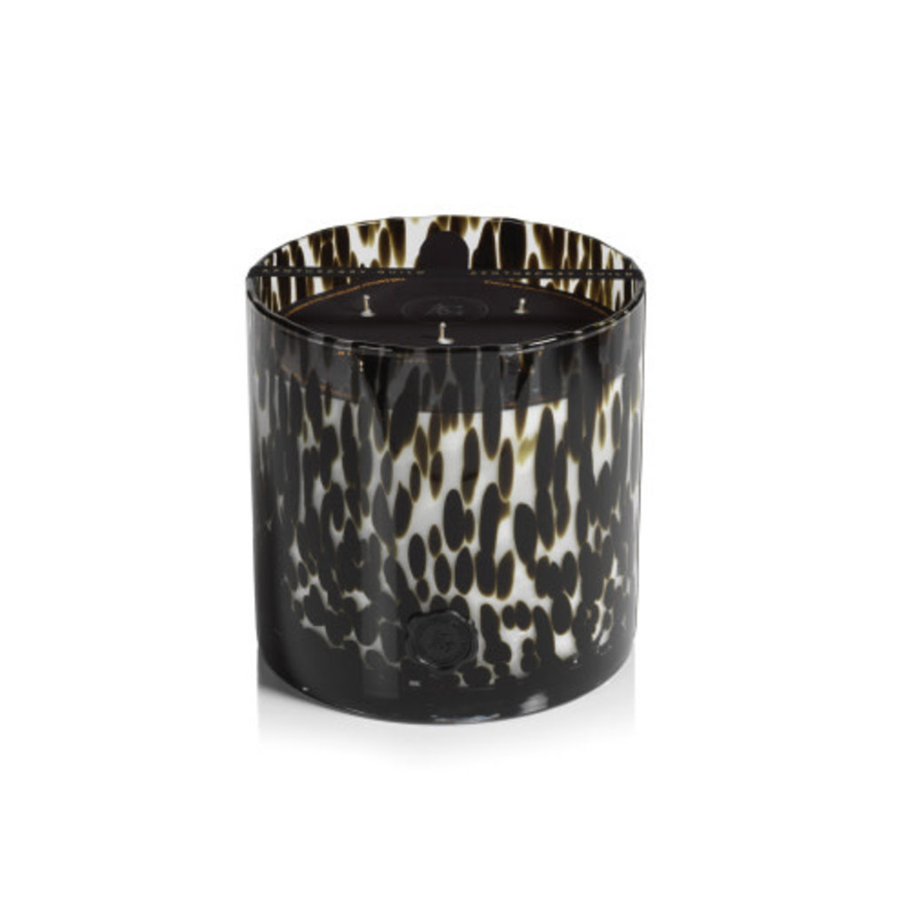 Zodax AG Opal Glass Five Wick Candle Black Fig Vetiver
