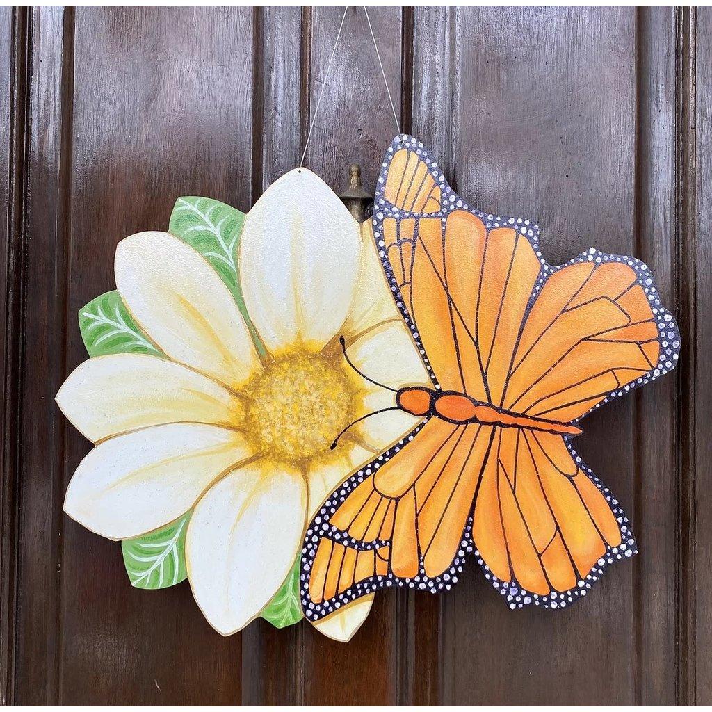 Jolie Designs NOLA Butterfly & Daisy Door Hanger