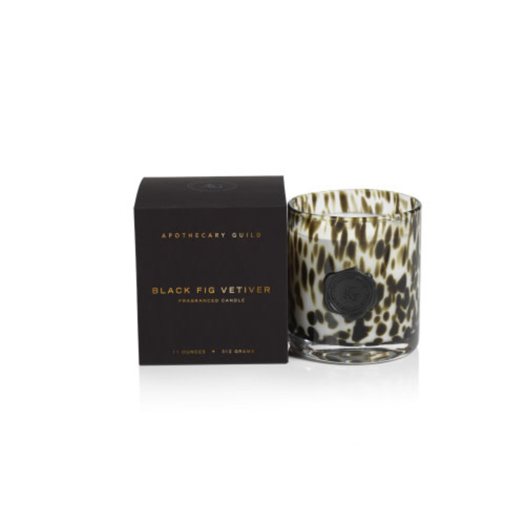 Zodax AG Opal Glass Candle Jar Black Fig Vetiver