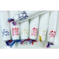 Elle Paperie Freedom Juice Foam Cups- 20oz Red Ink