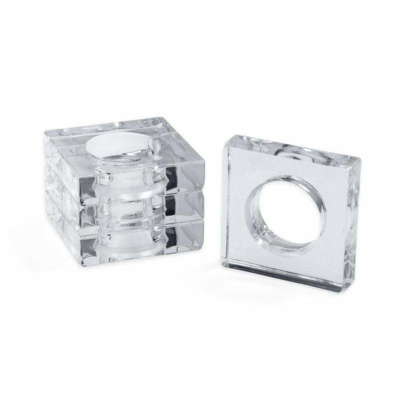 Caspari Crystal Set of 4 Napkin Rings