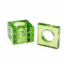 Caspari Emerald Set of 4 Napkin Rings