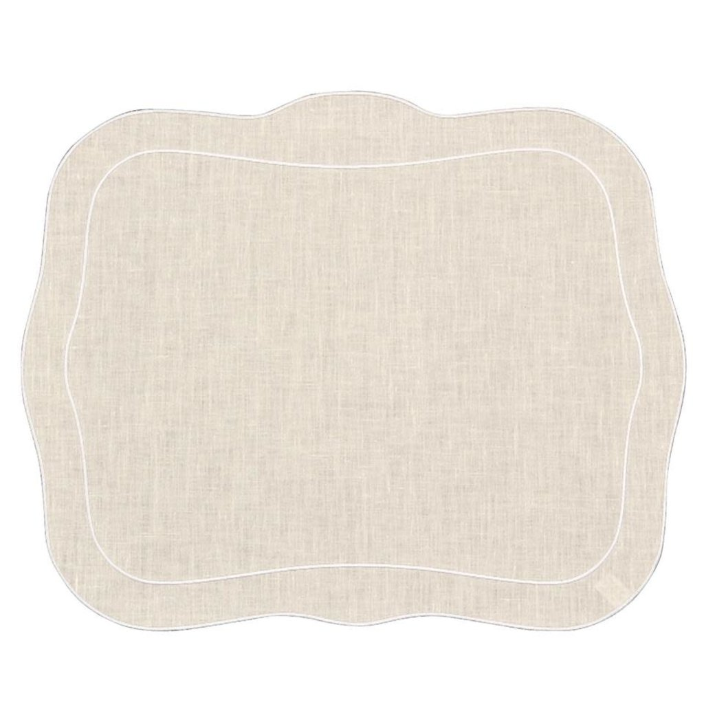 Skyros Designs Linho Patrician Placemat Natural with White