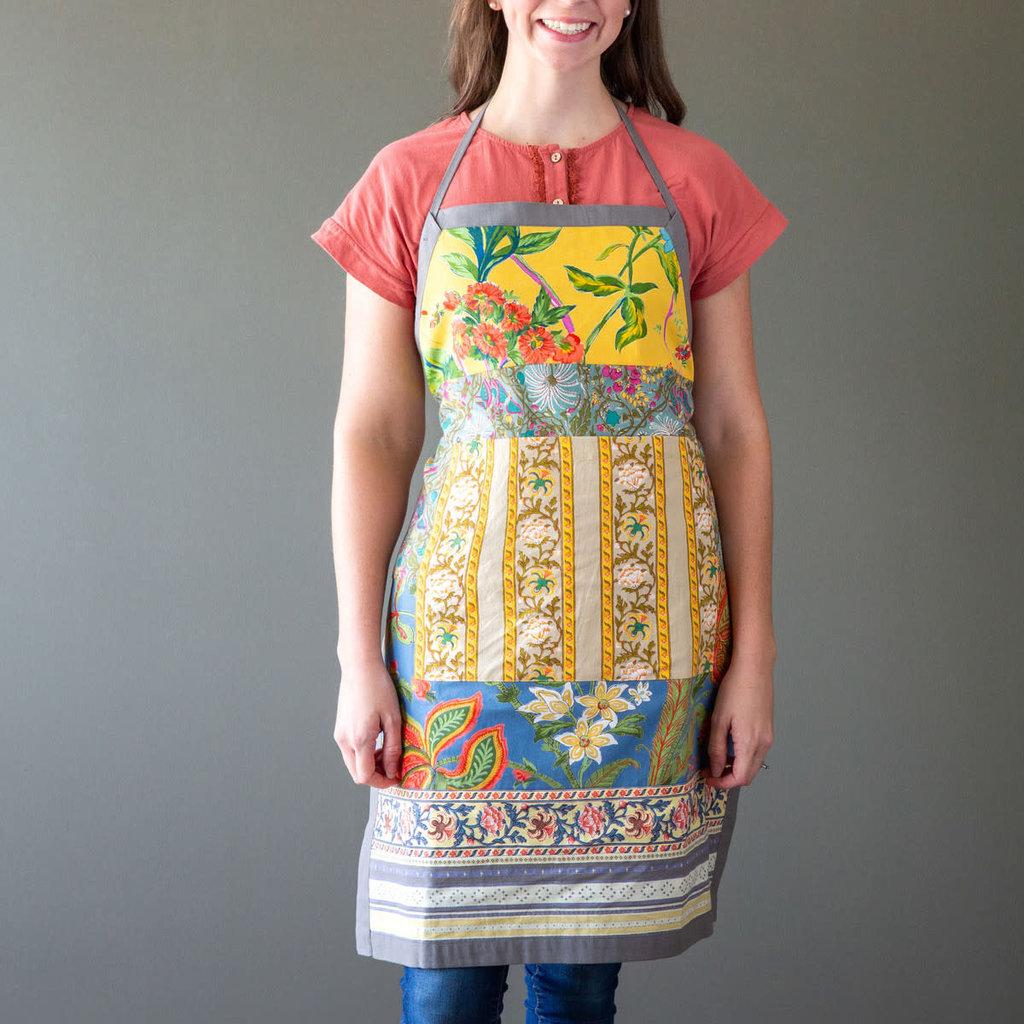 Park Hill Cotton Sheeting Apron Estelle Patchwork