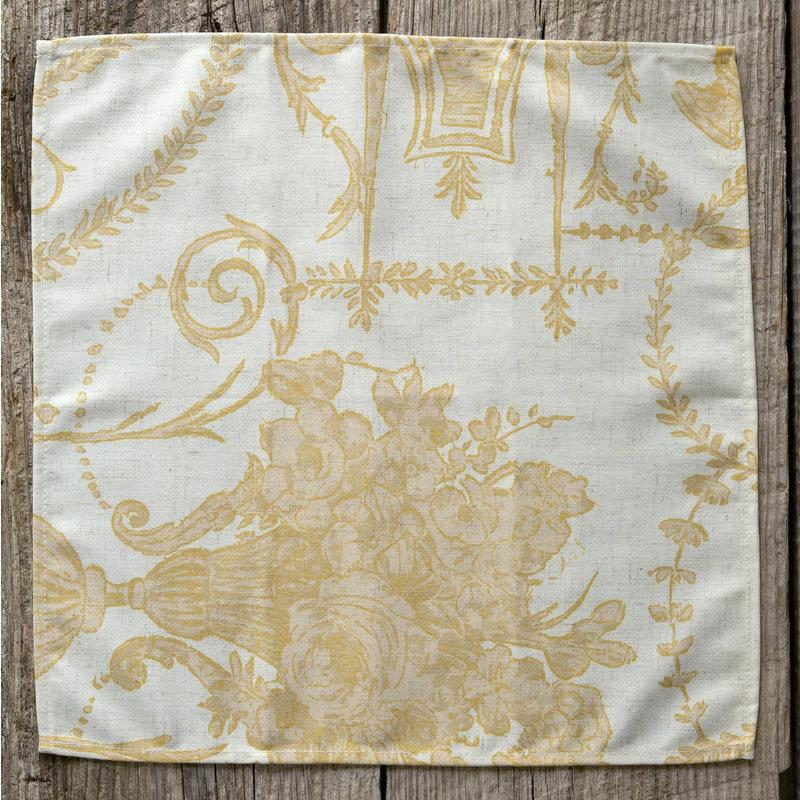 Park Hill French Quarter Yellow Cloth Napkin
