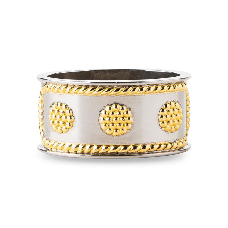 Juliska Napkin Ring B&T Bright Satin/Gold 2.75''L