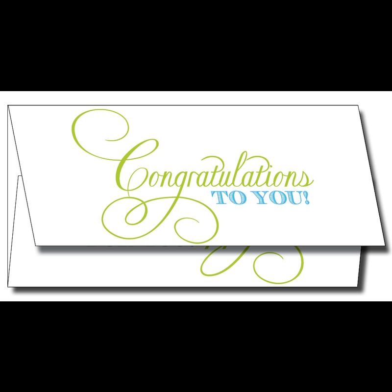 Maison de Papier Congratulations Script Blue Currency Enclosure