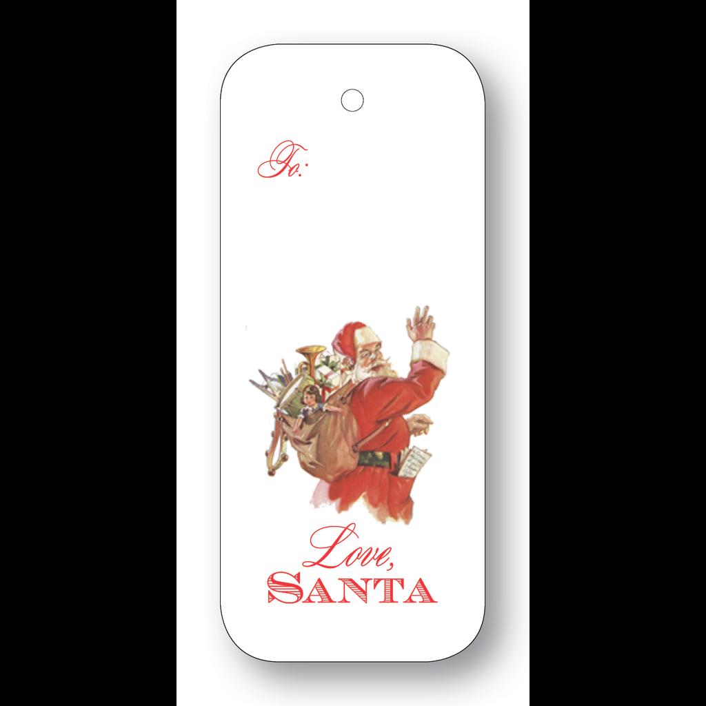 Maison de Papier Old Fashioned Santa String Gift Tag