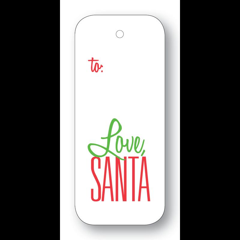 Maison de Papier Love, Santa String Gift Tag
