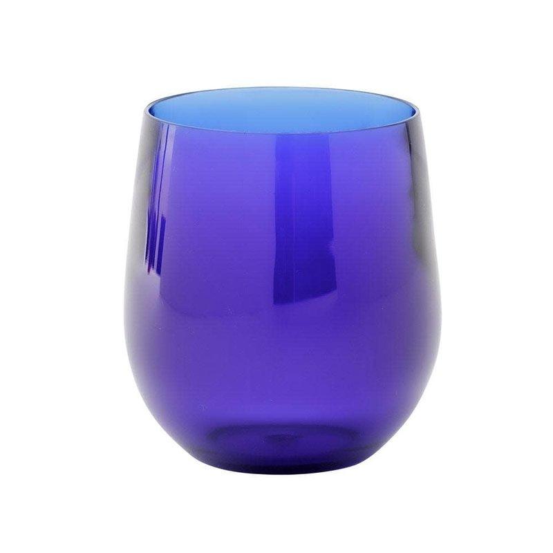 Caspari Caspari Crystal Acrylic Tumbler Cobalt