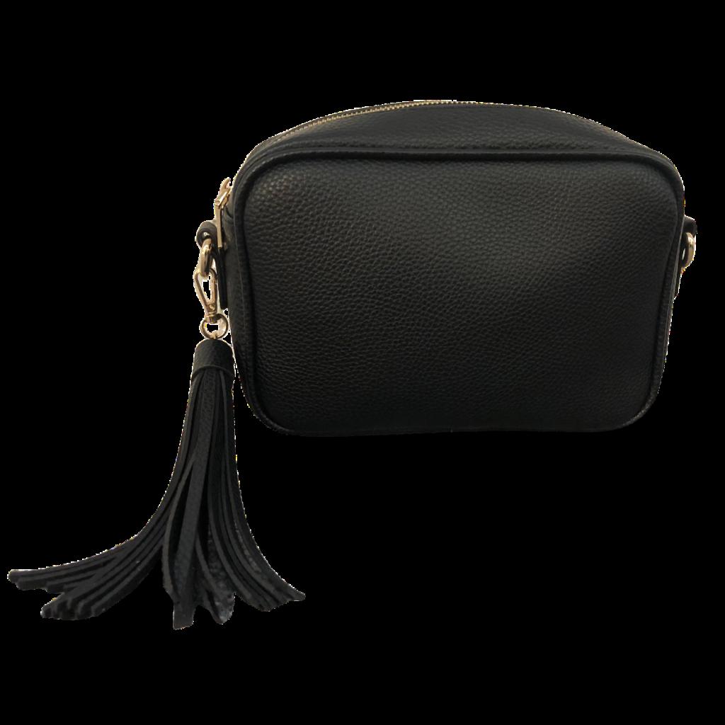 AhDorned Black Zip Top Bag w/ Tassel
