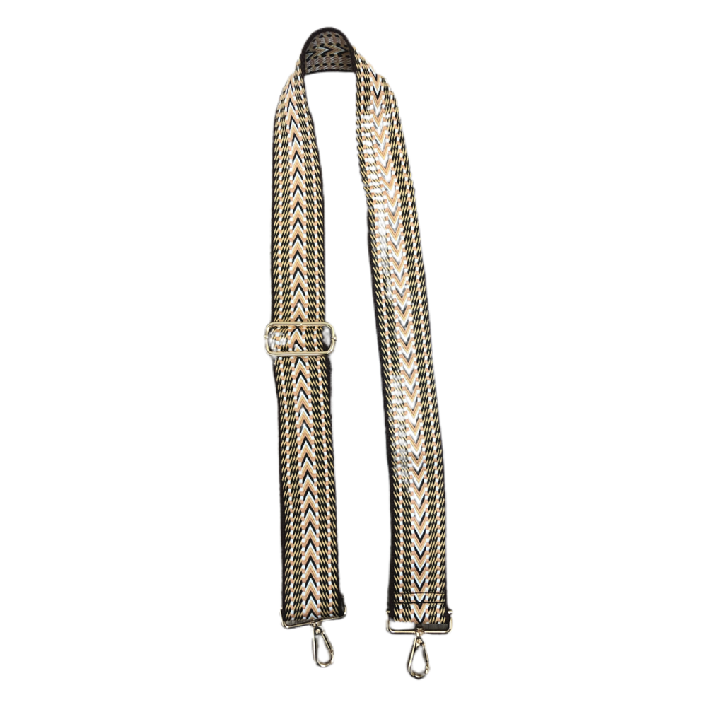 AhDorned Brown and Peach Woven Purse Strap