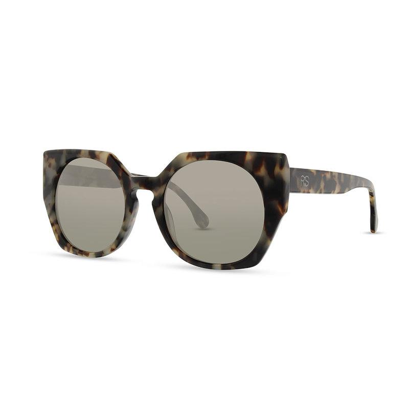 RS Eyeshop Sun Glasses Grey Round Tortoise 9002