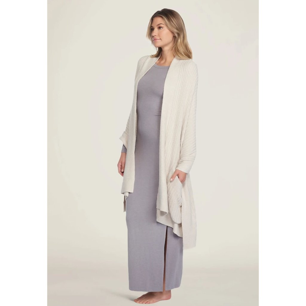 Barefoot Dreams Cozy Chic Lite Heathered Travel Shawl Bisque