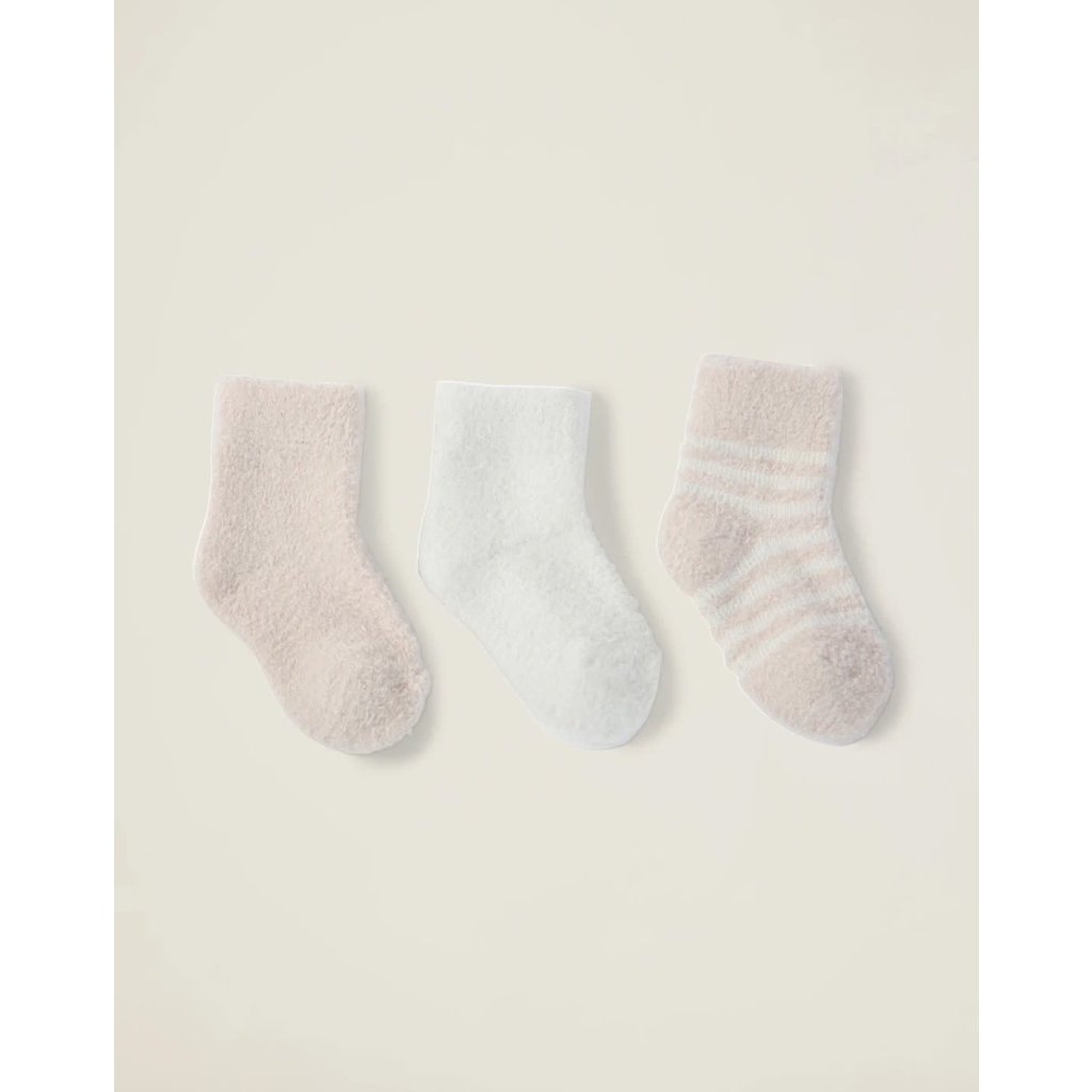 Barefoot Dreams Cozy Chic Lite Infant Socks 3-pack Pink-Pearl
