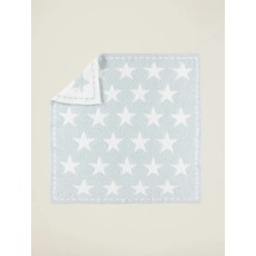 Barefoot Dreams Cozy Chic Dream Receiving Blanket Aqua Stars