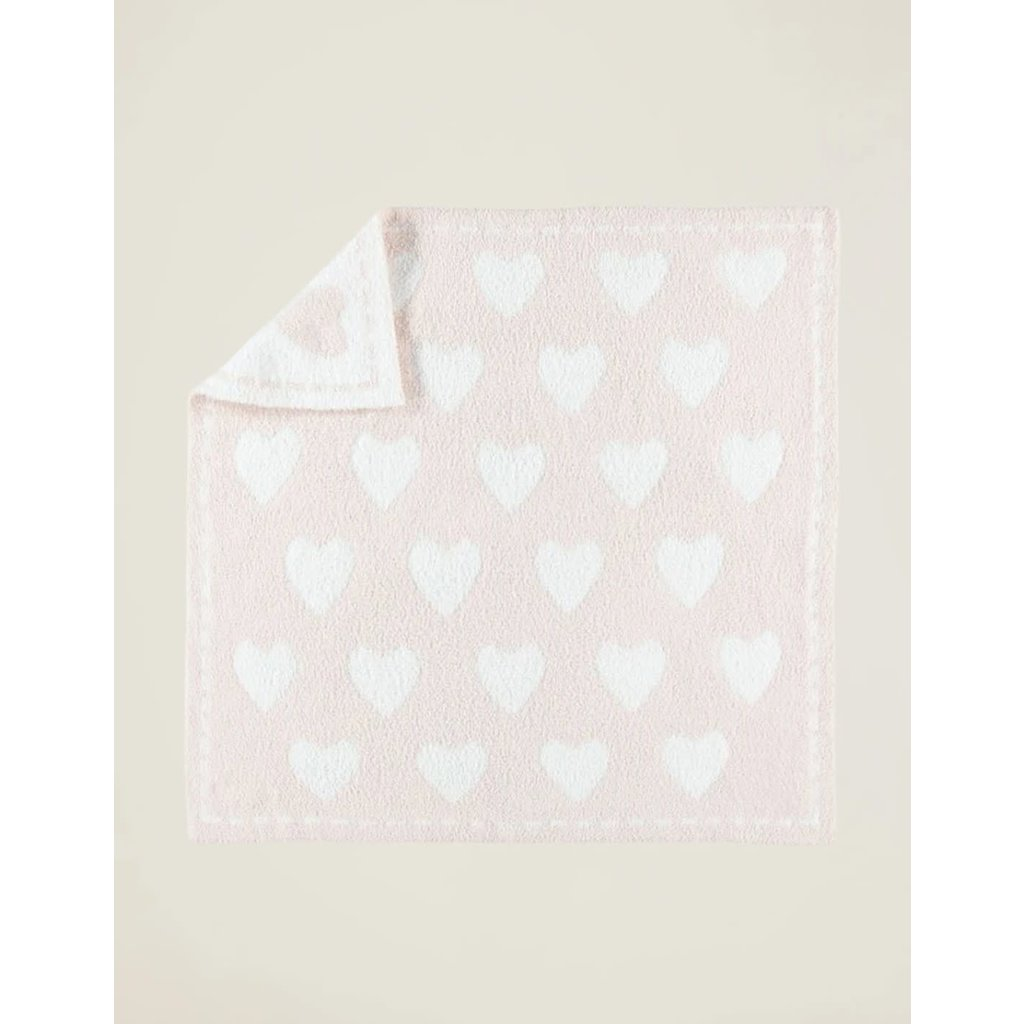 Barefoot Dreams Cozy Chic Dream Receiving Blanket Pink Hearts