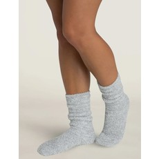 Barefoot Dreams Cozy Chic Heathered Women's Socks Blue Water/White