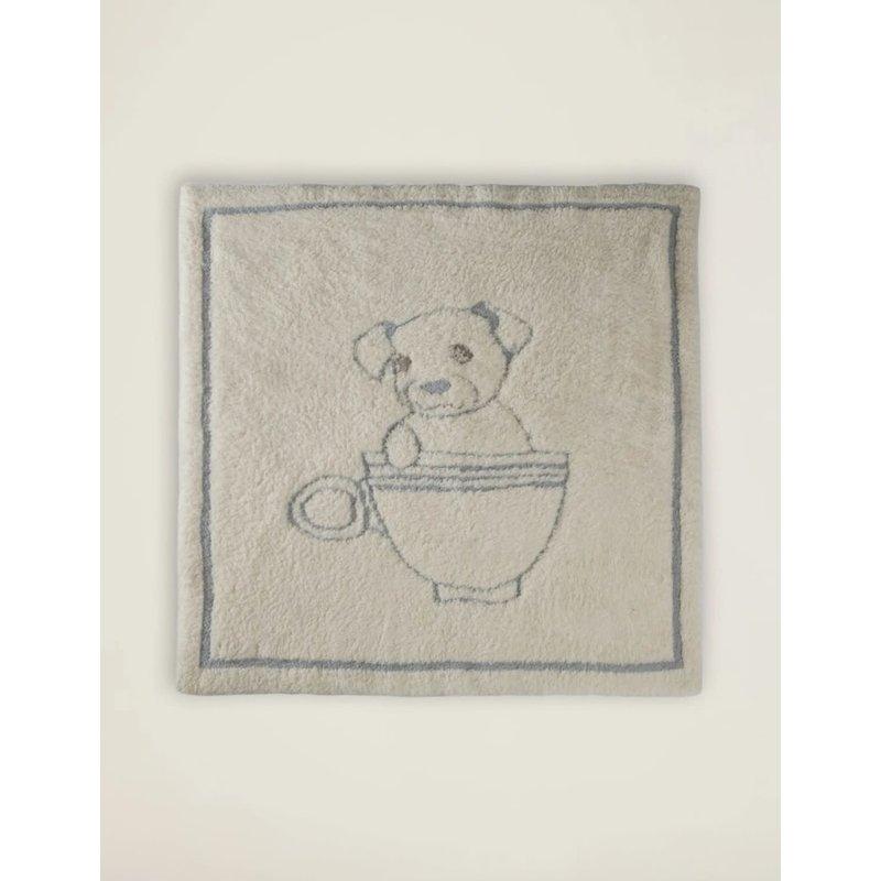 Barefoot Dreams Cozy Chic Teacup Puppy Blanket- Ocean