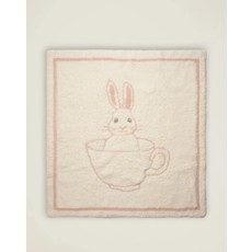 Barefoot Dreams Cozy Chic Teacup Bunny Blanket- Dusty Rose