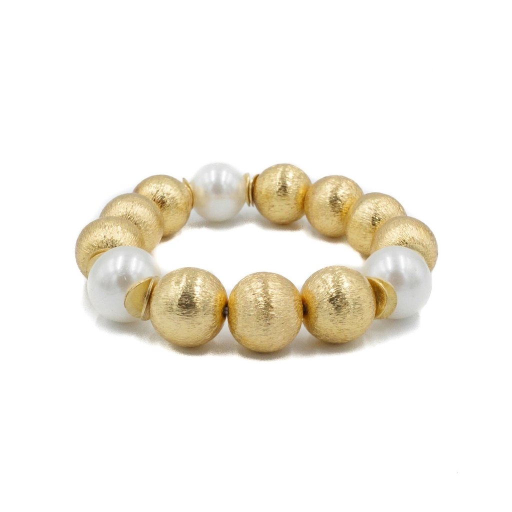 Hazen & CO Madison Bracelet White Pearl