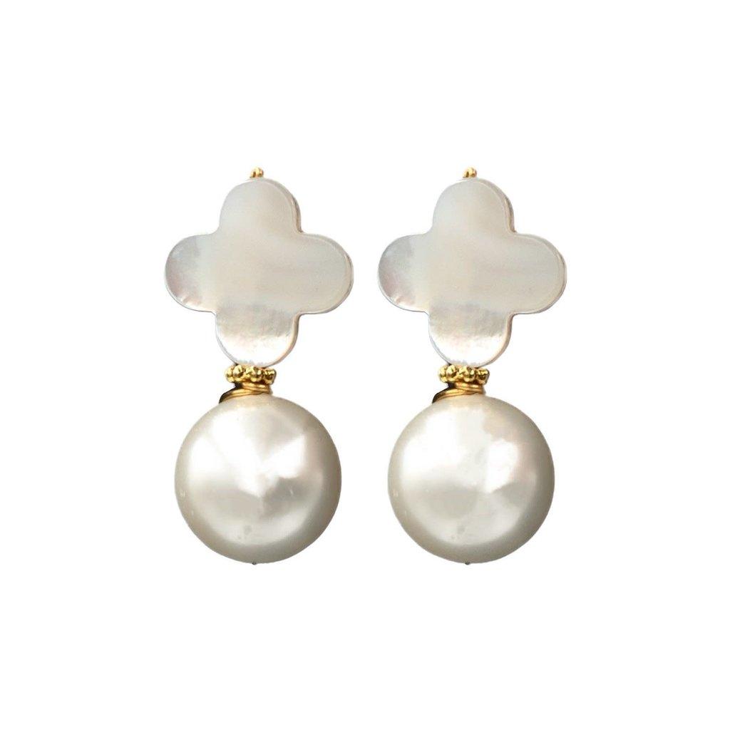 Hazen & CO Kacey Earring White Pearl