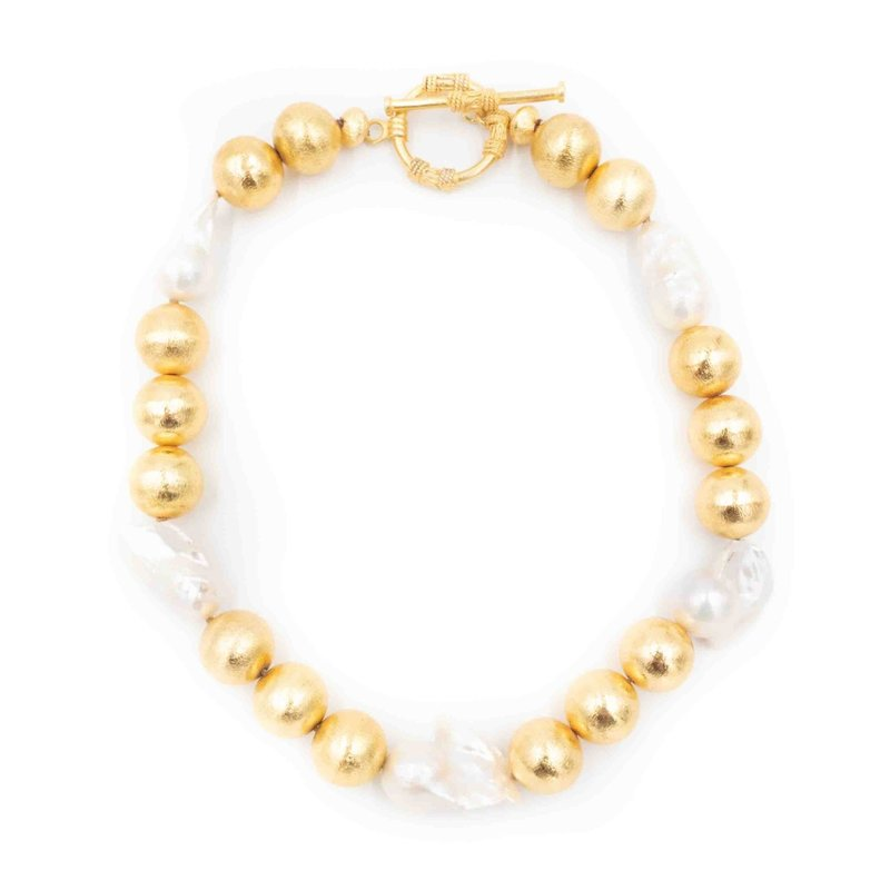 Hazen & CO Annabelle Necklace White Pearl