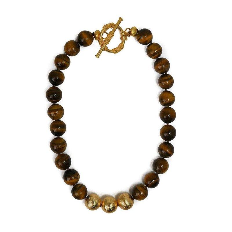 Hazen & CO Collier Necklace Tiger Eye