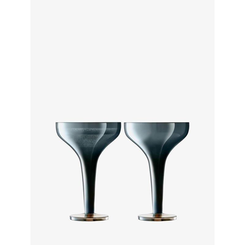 LSA Epoque Champagne Saucer 5 oz. Sapphire (Set of 2)