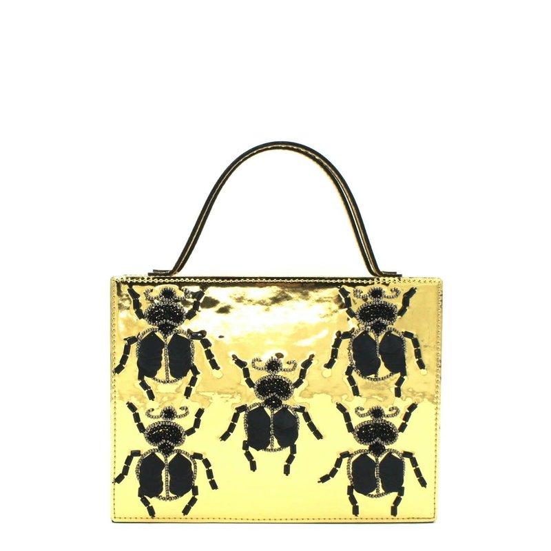 Simitri Designs Gold Beetle Bag
