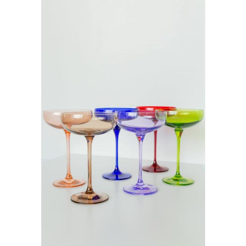 Estelle Estelle Colored Champagne Coupe Set of 6 Mix