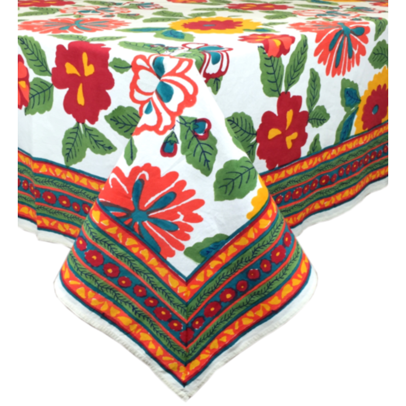 """Pacific & Rose Textiles Pacific and Rose Flower Power Tablecloth 60""""x92"""""""