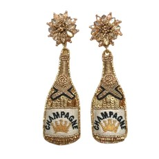 Allie Beads Allie Beads Gold Champagne Earrings