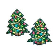 Allie Beads Allie Beads Christmas Tree Earrings