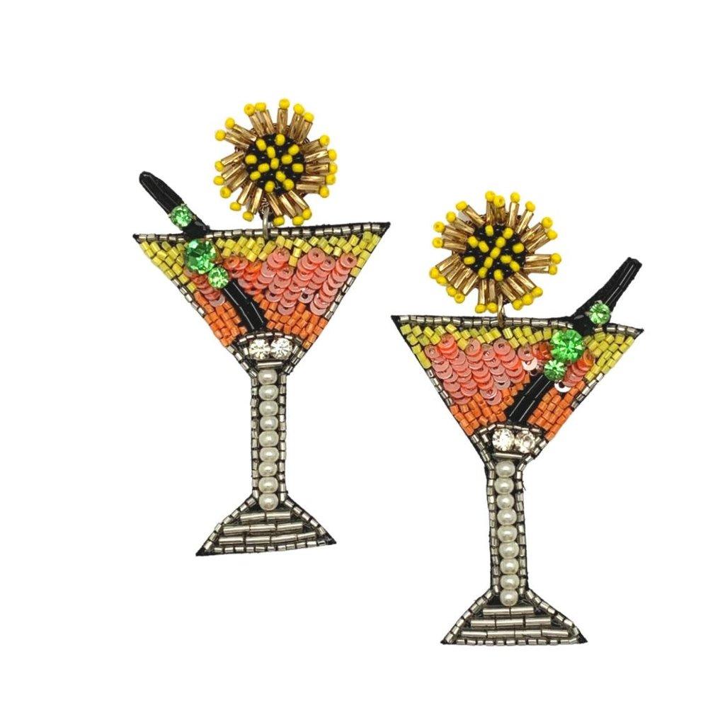 Allie Beads Allie Beads Citrus Martini Earrings