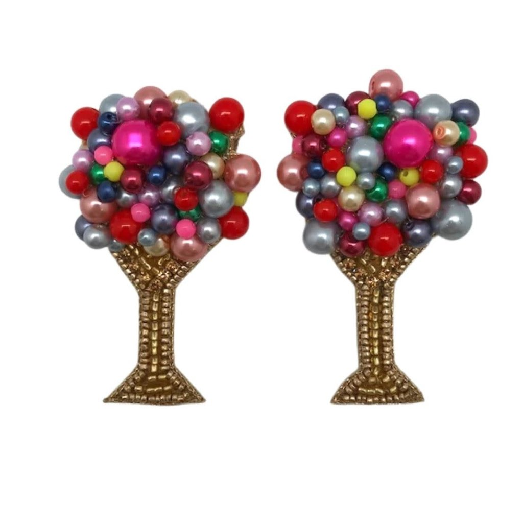 Allie Beads Allie Beads Bright Bubbly Champagne Earrings