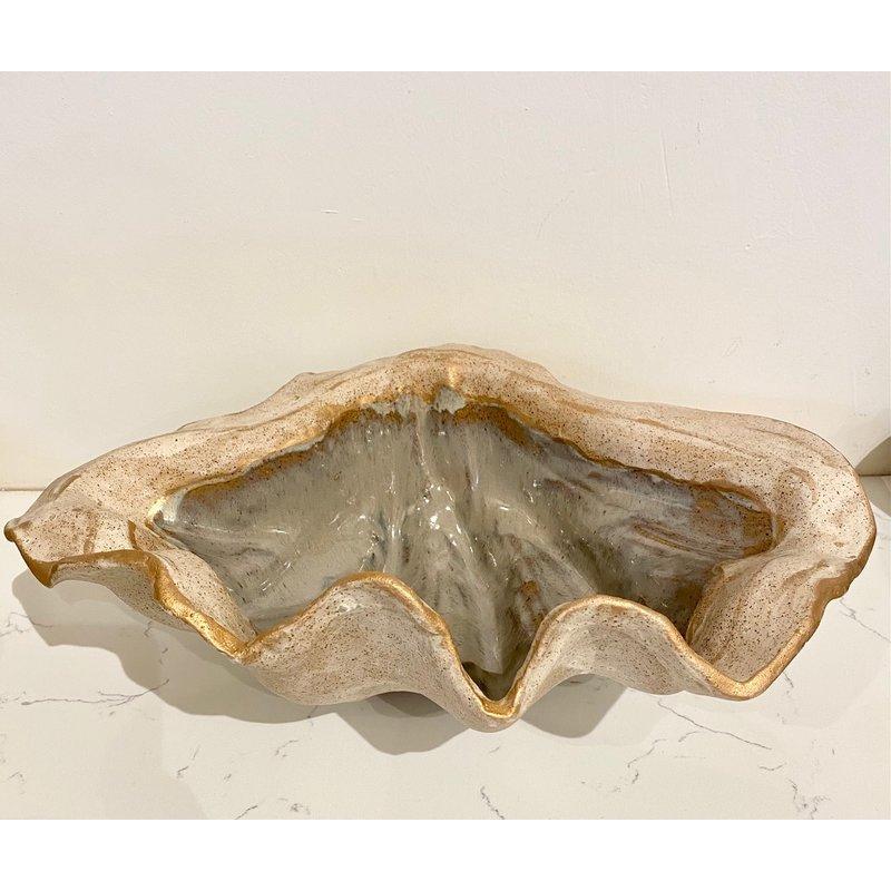 Pamela Sack Gilded Clam Bowl Large