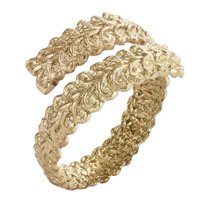 Bodrum Hellenic Wrap Gold Napkin Ring Set of 4