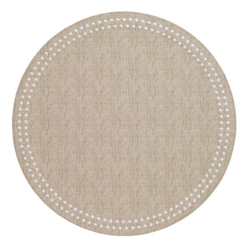 Bodrum Pearls Beige White Mats Set of 4