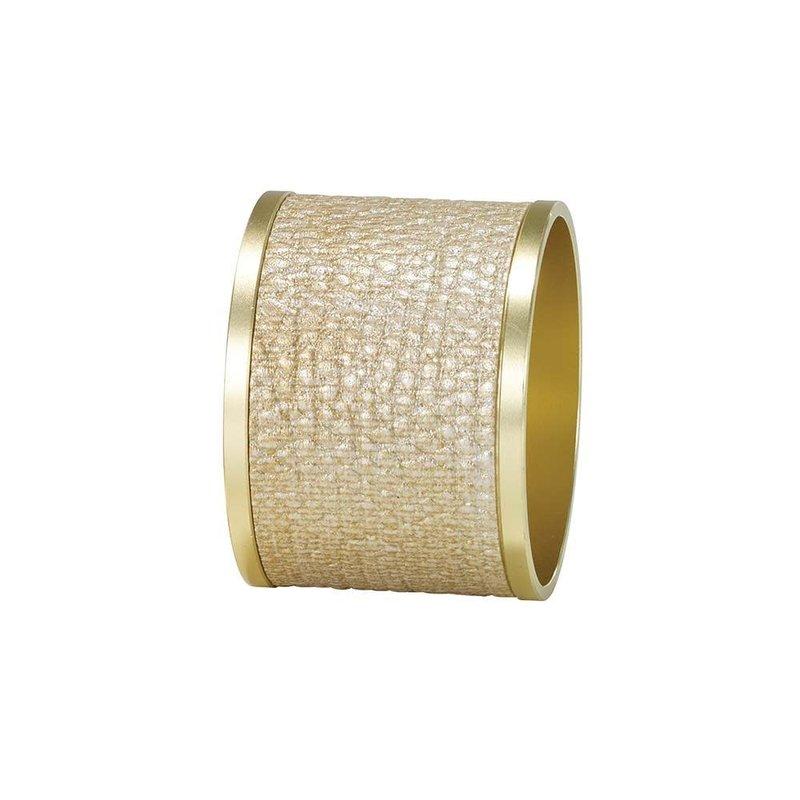 Bodrum Luster Gold/Gold Napkin Ring Set of 4