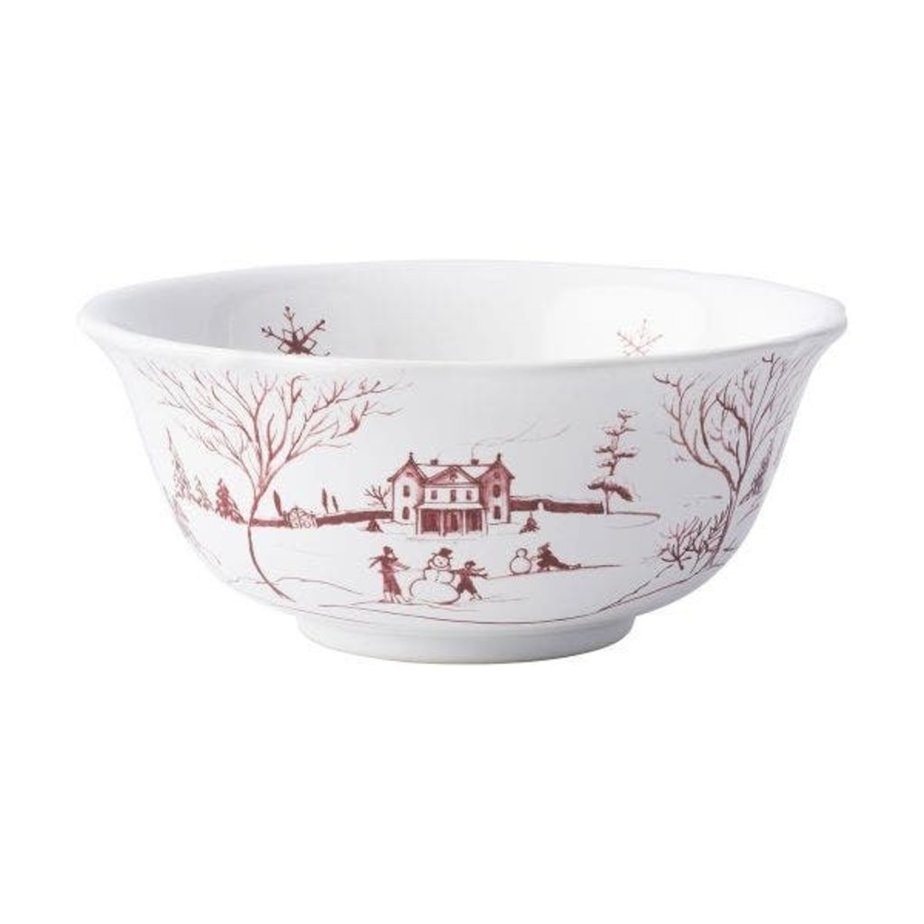 Juliska Cereal/Ice Cream Bowl CE Ruby 6.5'' W Winter Frolic