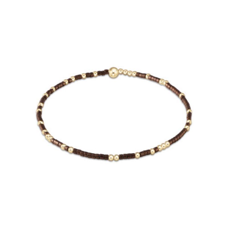 enewton Hope Grateful Pattern Bracelet- Bronze