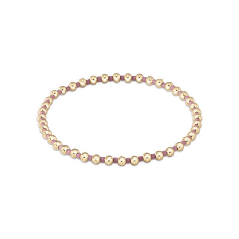 enewton Hope Grateful Pattern Bracelet- Dusty Rose